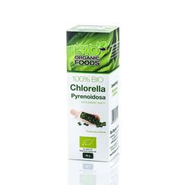 100% Bio Chlorella Pyrenoidosa 80g (320 tabletek po 250 mg) - Bio Organic Foods