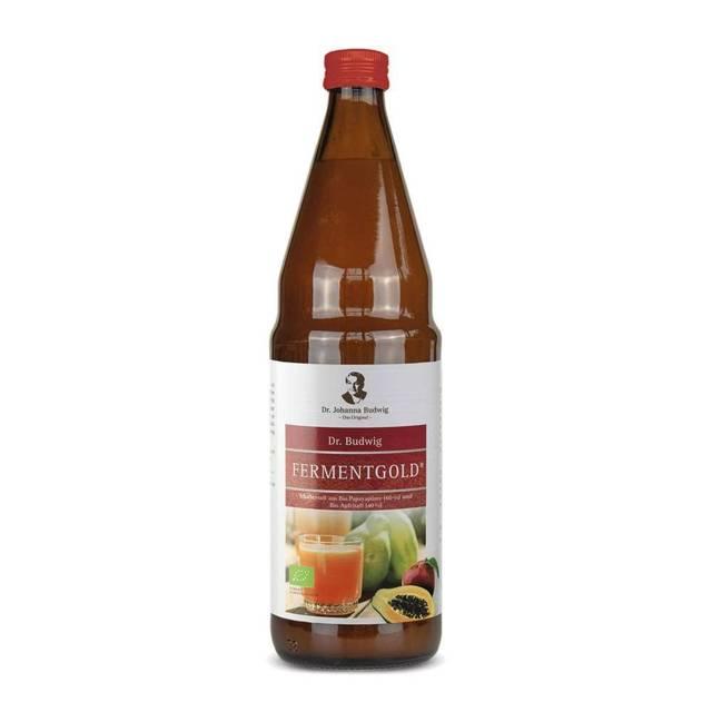 Dr Budwig Fermentgold sok z papai i jabłek BIO 750ml - do diety dr Budwig