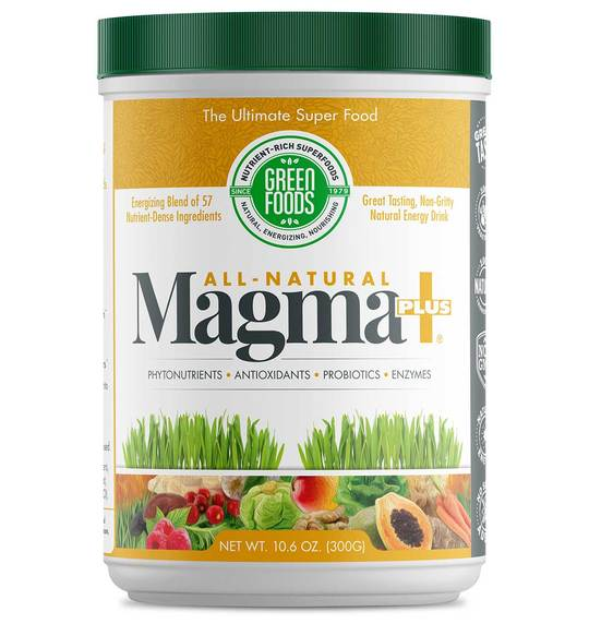 All-Natural Magma Plus 300g (Superfood z Młody jęczmień + 56 super dodatków) - Green Foods USA